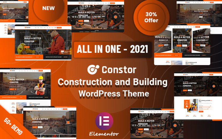 Constor Construction and Building Responsive WordPress Theme