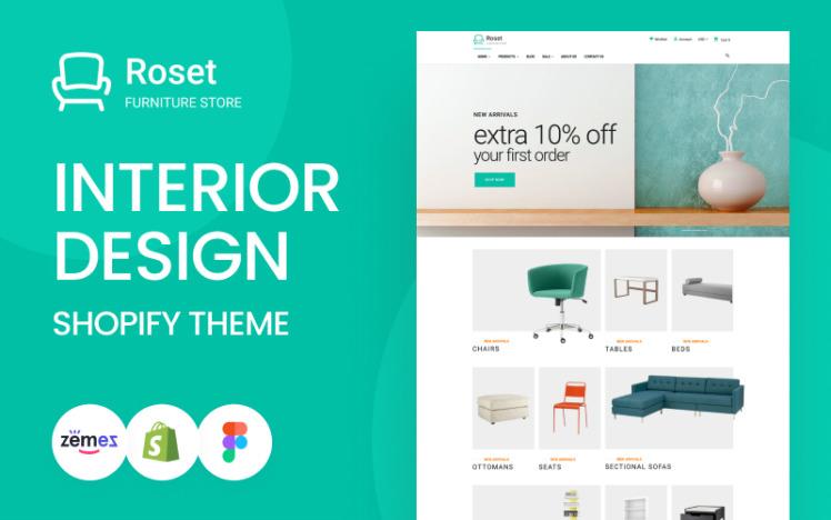 Roset Responsive Furniture and Interior Design Shopify Theme