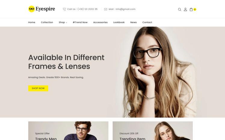 Eyespire Eyeglasses Sunglasses Fashion Shopify Theme