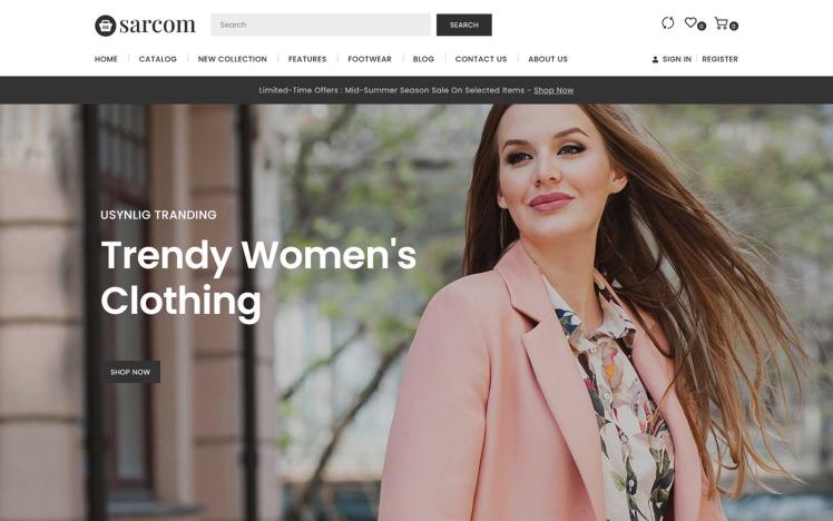 Sarcom Shopify Fashion Store