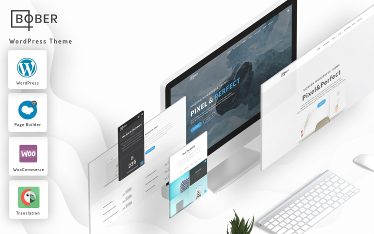 Bober Creative Responsive Minimalistic CorporateampPortfolioampAgency WordPress Theme