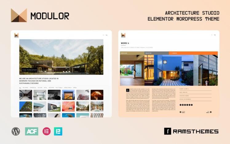 MODULOR Architecture Studio WordPress Theme