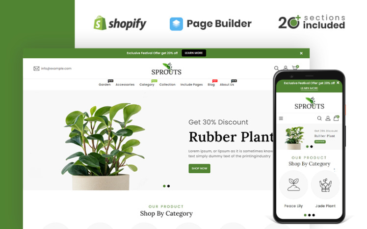 Sprouts Gardening amp Houseplants Shopify Theme