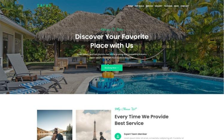 Safar Tour and Travel Agency WordPress Theme