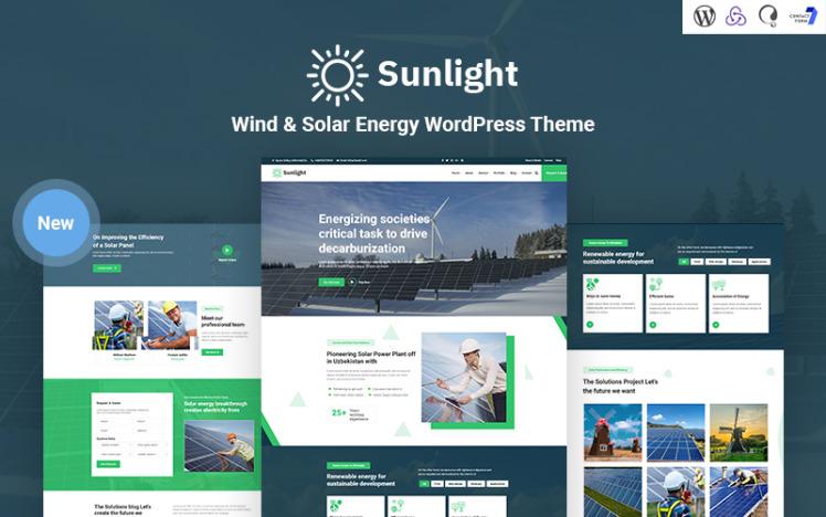 Sunlight Wind and Solar Energy Responsive WordPress Theme