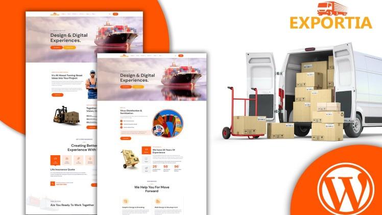 Expotia Transportation and Logistic WordPress Theme
