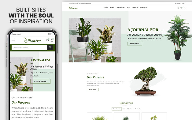 Plantza The Plant amp Organic Foods Premium Shopify Theme