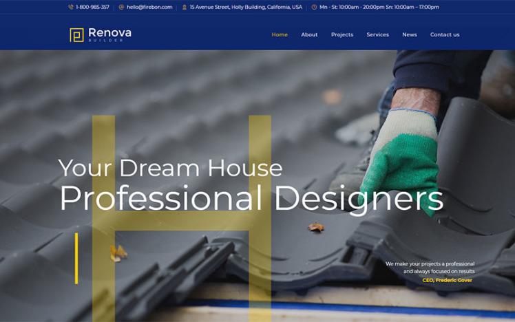 Renova Construction amp Building WordPress Theme