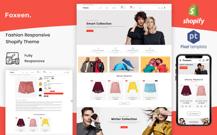 Foxeen Modern Fashion Shopify Template
