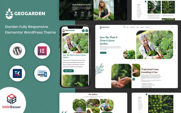 GeoGaren Gardening and Landscaping WordPress Elementor Theme