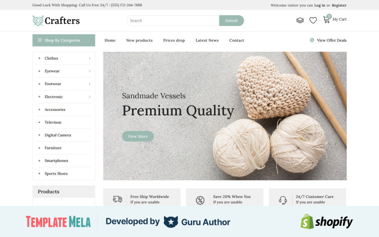 Crafter Art amp Furniture Shopify Theme