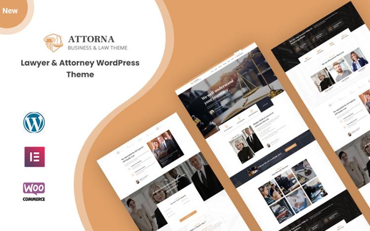 Attorna Law Lawyer and Attorney WordPress Theme