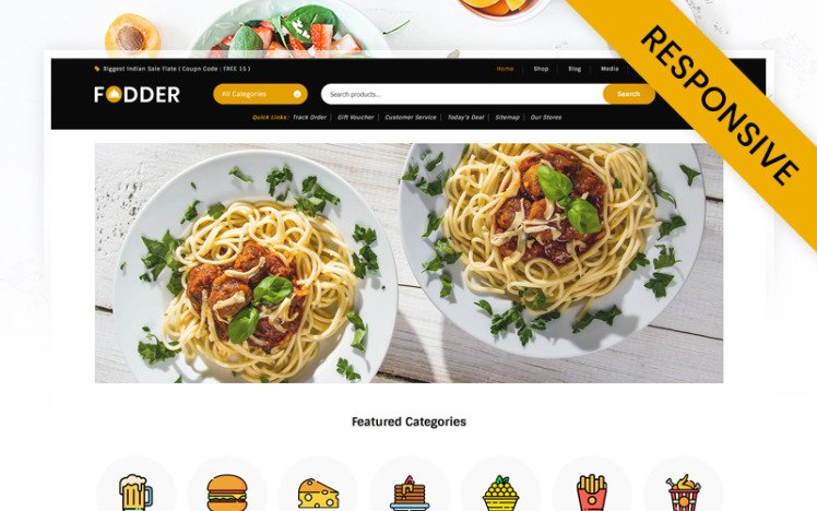 Fodder Food and Restaurant Store WooCommerce Theme