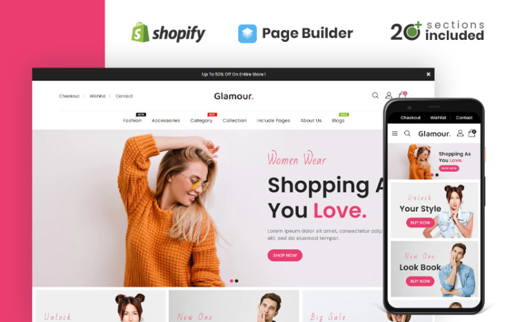 Glamour Fashion amp Accessories Shopify Theme
