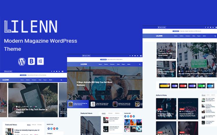 LilennModern Corporate Elementor Wordpress Theme