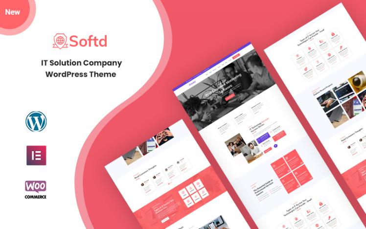 Softd IT Solution Company Responsive WordPress Theme