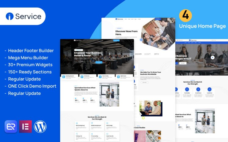 Iservice it support and Software company WordPress theme