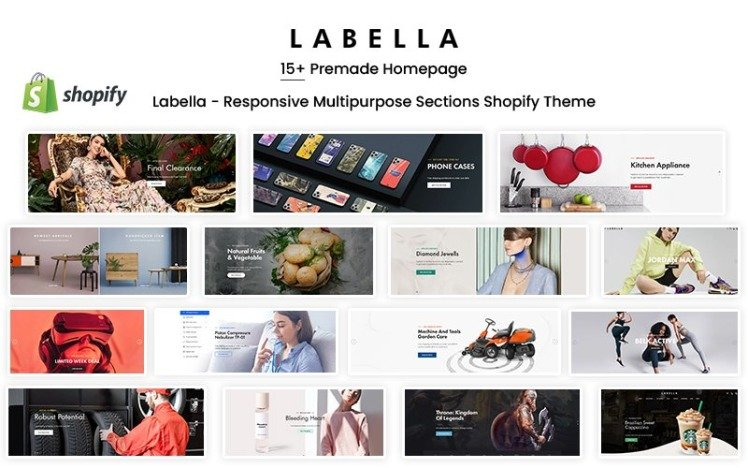 Labella Responsive Multipurpose Sections Shopify Theme