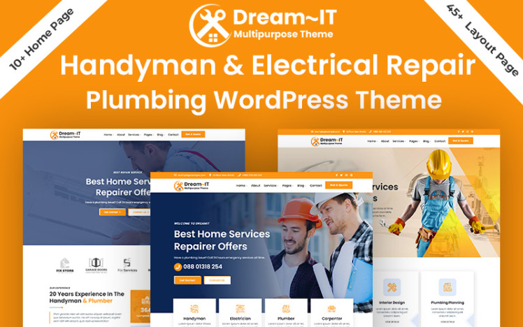 DreamIT Handyman Electrician amp Plumbing Repair WordPress Theme