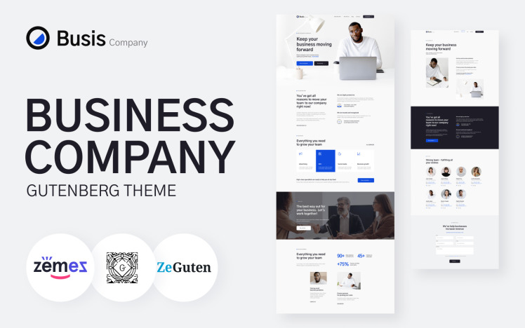 Busis Company Business Gutenberg Theme