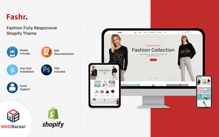 Fashr Modern Fashion Shopify Template