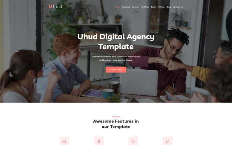 Uhud Responsive Digital Agency WordPress Theme