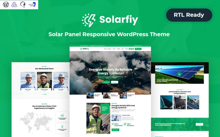 Solar fiy Solar Panel Responsive WordPress Theme