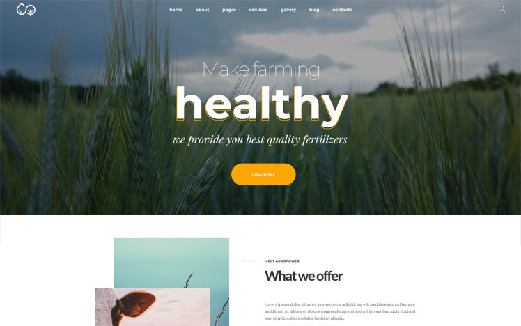 Agropower Chemical Plant and Fertilisers Manufacturer WordPress theme