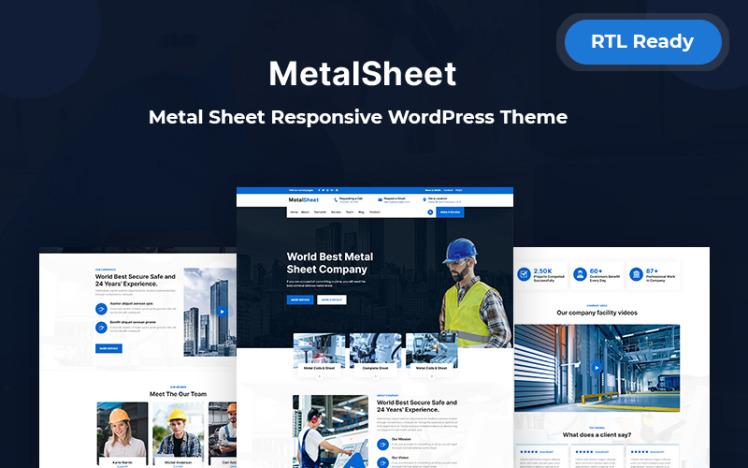 Metalsheet Metal Sheet Responsive WordPress Theme