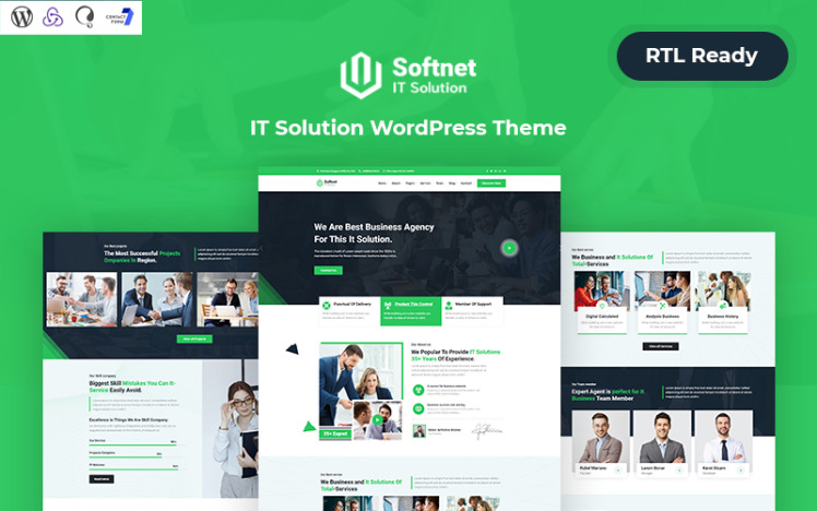 Softnet IT Solution Company Responsive WordPress Theme