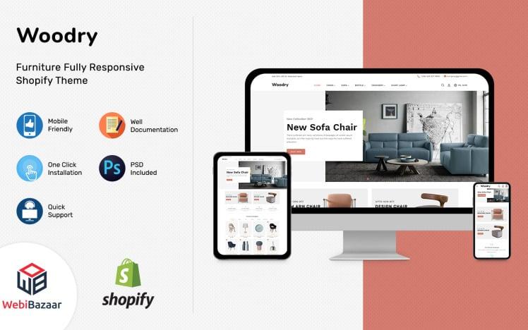 Woodry Multipurpose Furniture amp Interior Shopify Template