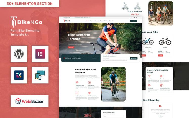 Bikengo Bike Rental and Shop WordPress Theme