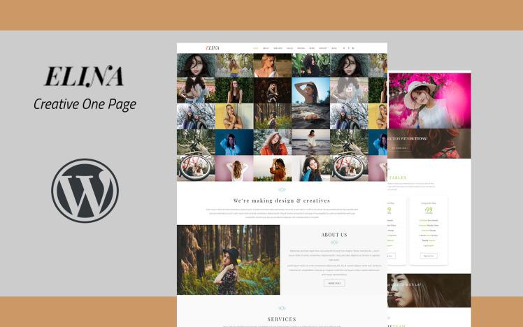 Elina Creative One Page WordPress Theme