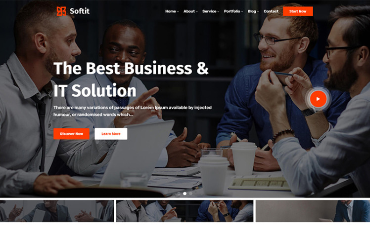 Softit IT Solution Services and Technology WordPress Theme