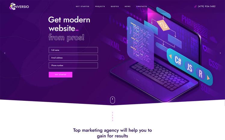 Conversio Marketing and Conversion WordPress theme