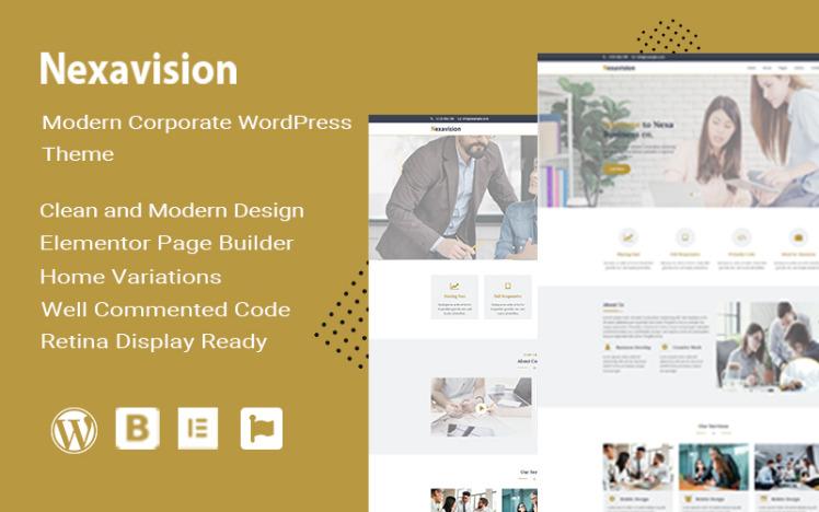 Nexavision Multipurpose Website Builder using Elementor Wordpress Theme