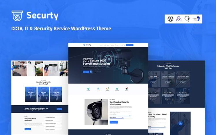 Securtv CCTV IT and Security Service Responsive WordPress Theme