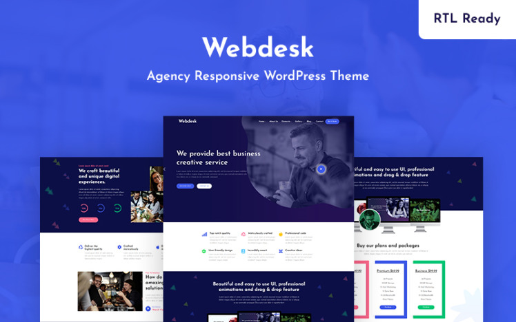 Webdesk Agency Responsive WordPress Theme