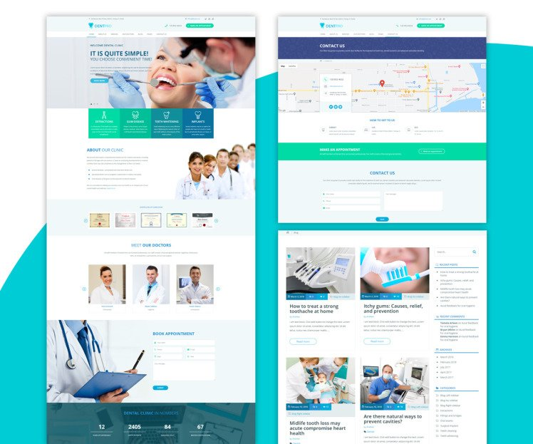 DentPro Modern Medical WordPress theme