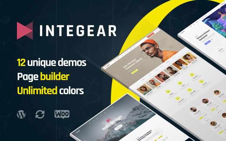Integear IT Company and Web Design Agency WordPress Theme