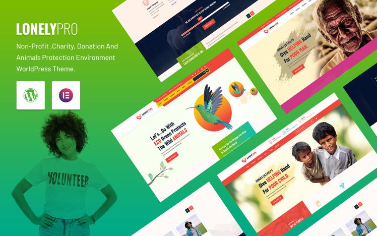 LonelyPro NonProfit Charity WordPress Theme