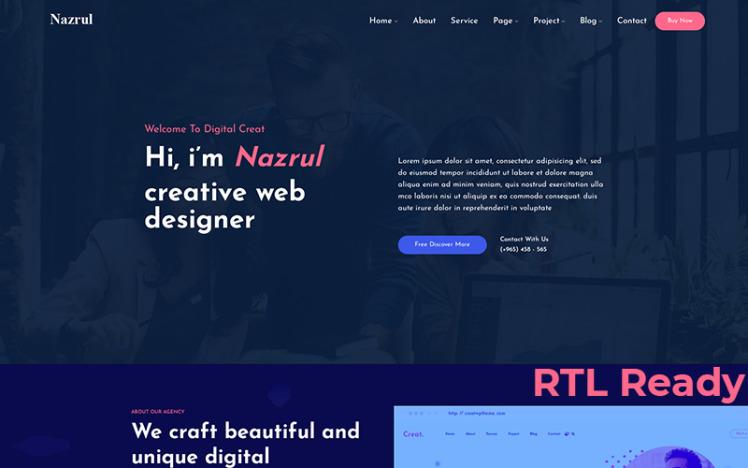 Nazrul Personal Responsive WordPress Theme