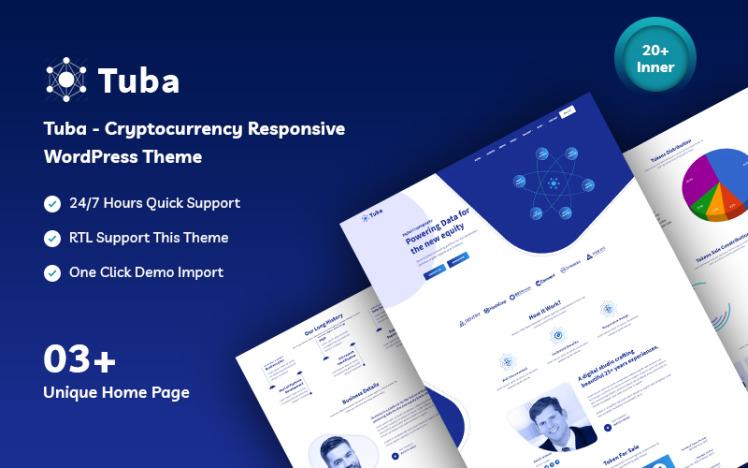 Tuba Cryptocurrency Responsive WordPress Theme