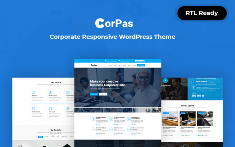 Corpas Corporate Responsive WordPress Theme