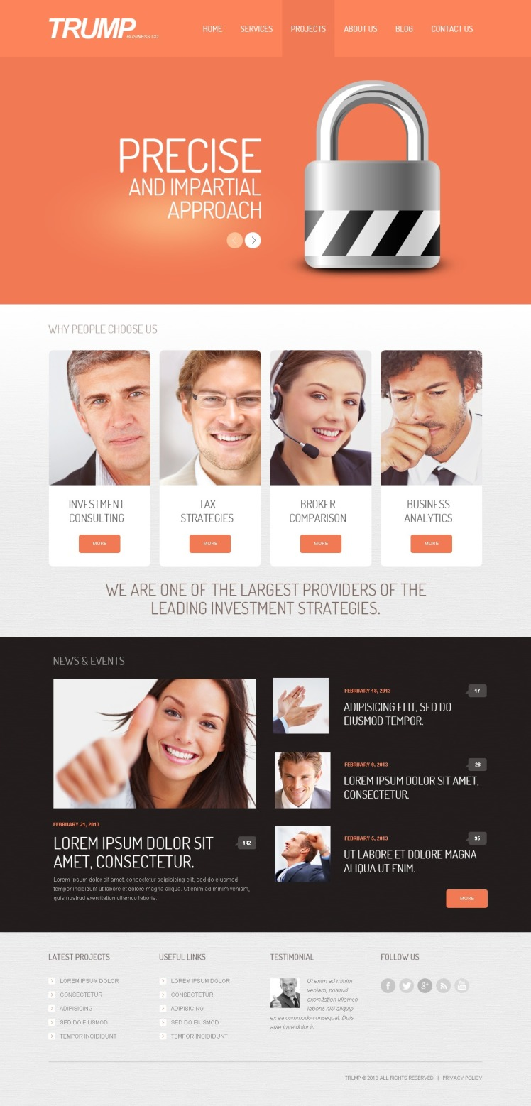 Investment Company WordPress Theme