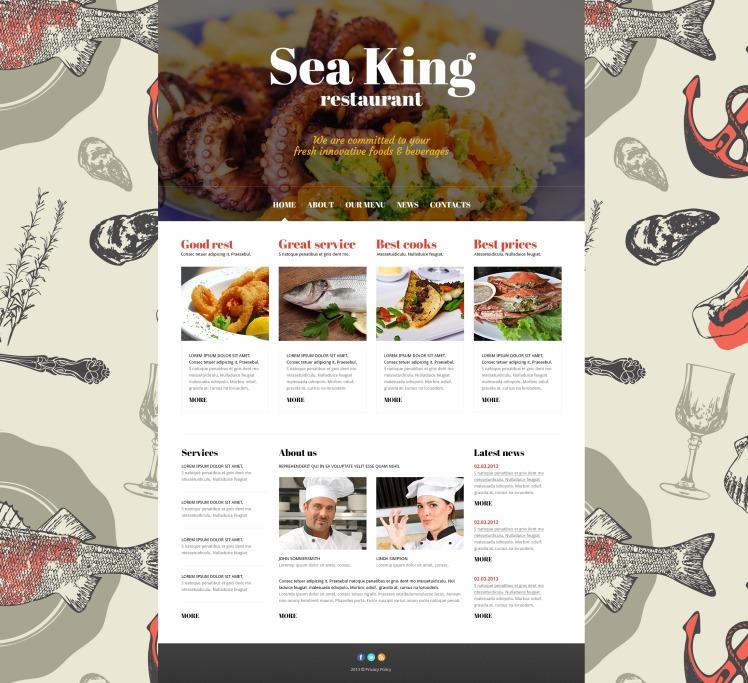 Sea King Restaurant Joomla Template