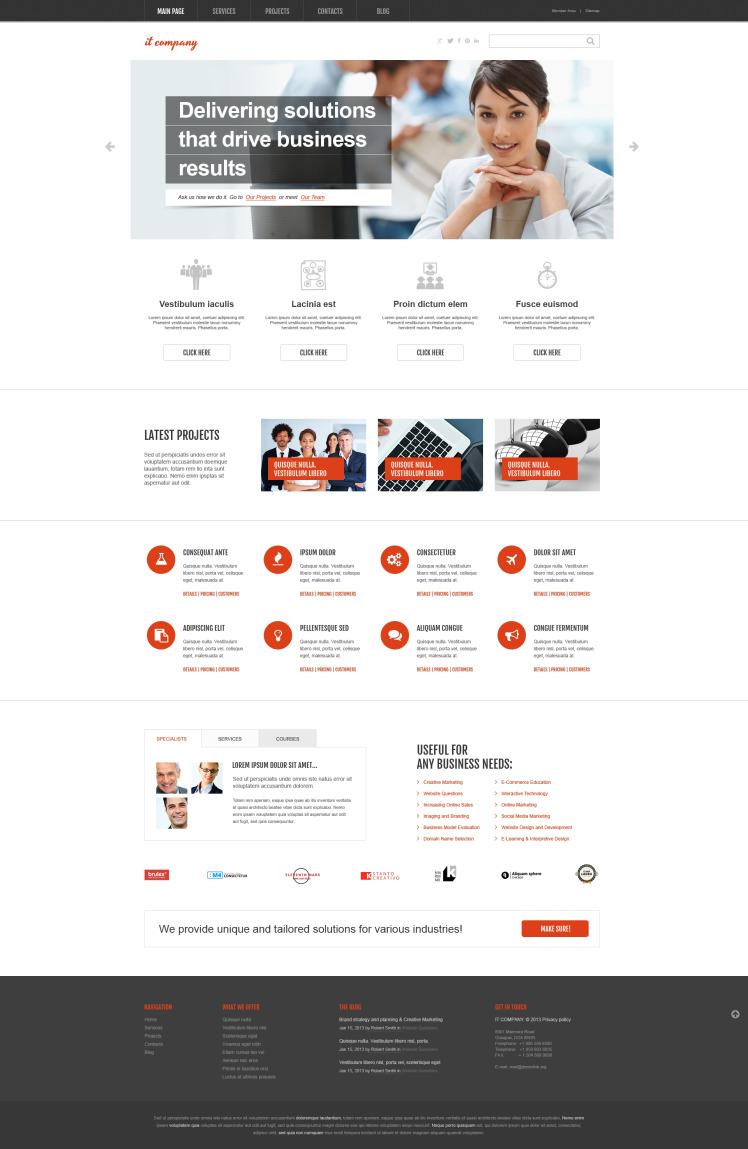 IT Company WordPress Theme