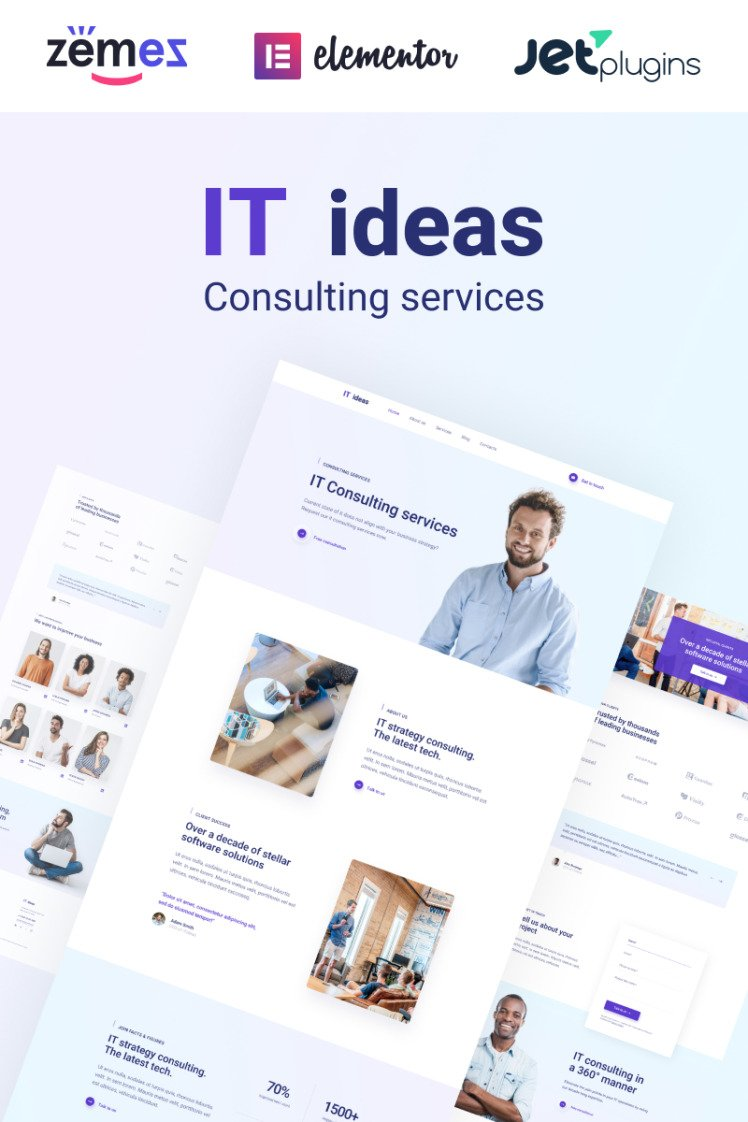 ITIdeas Consulting Website Template for WordPress Themes