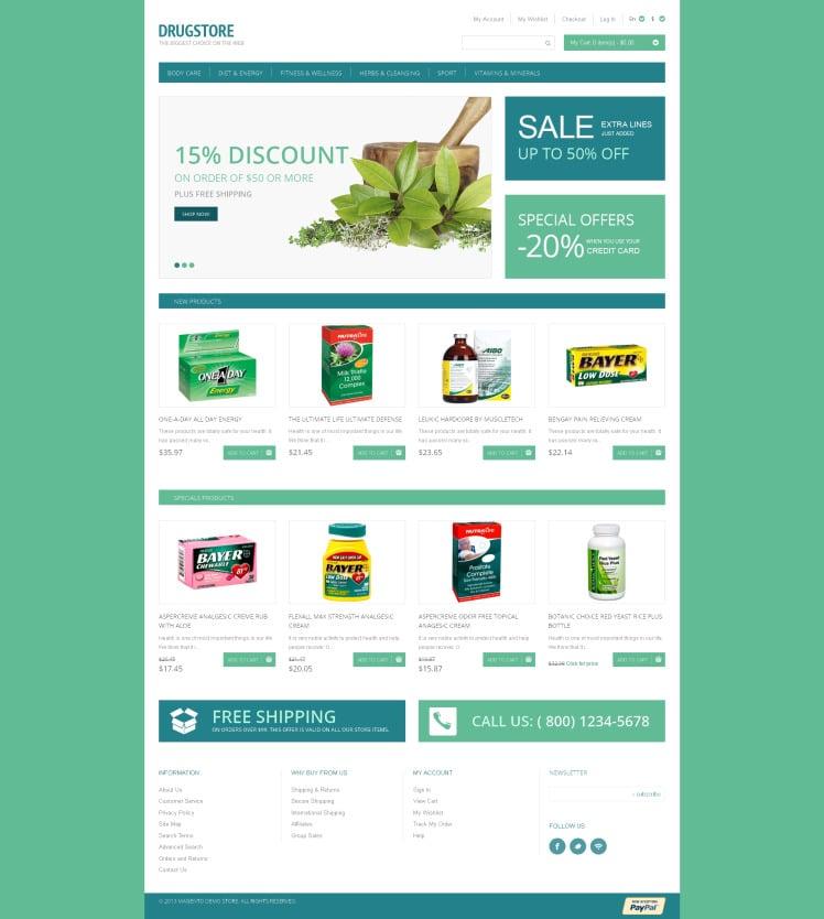 Drugstore Magento Themes