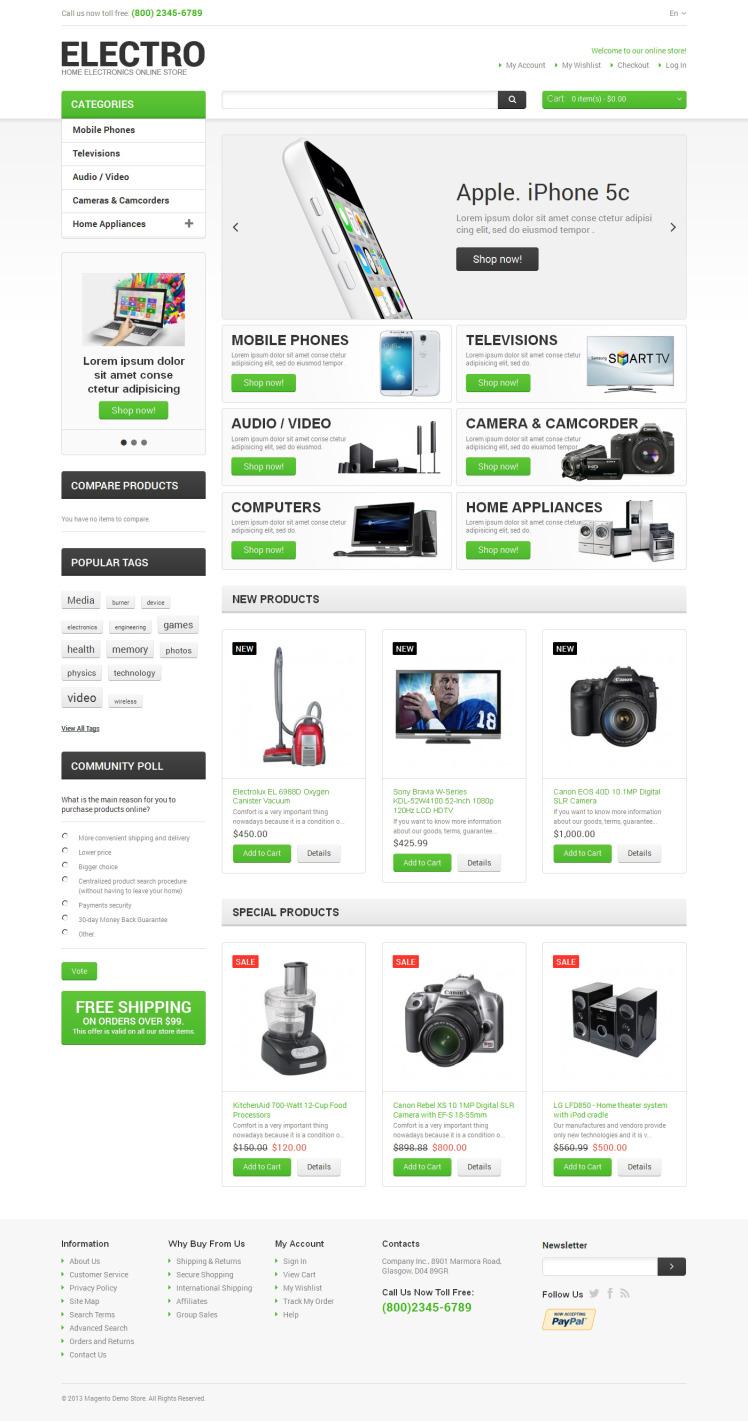 Electro Appliances Magento Themes